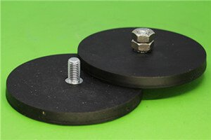 waterproof durable scratch protection rubber coated neodymium mounting magnets