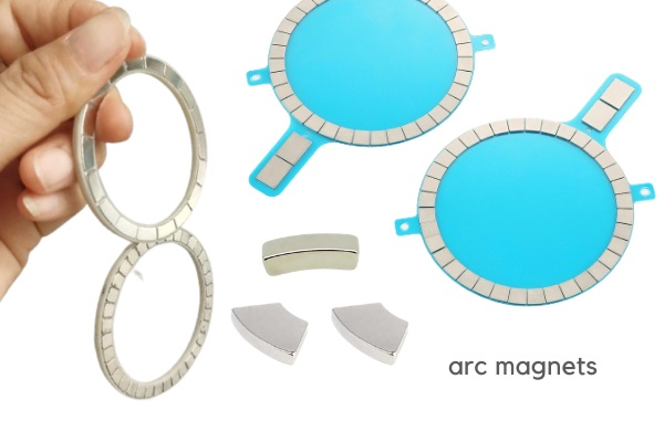 arc magnets for wireless charging magnet