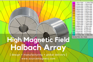 custom high magnetic field halbach array