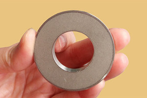 ring smco magnet with metal backing