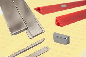 custom stepped neodymium magnets for polyurethane component parts